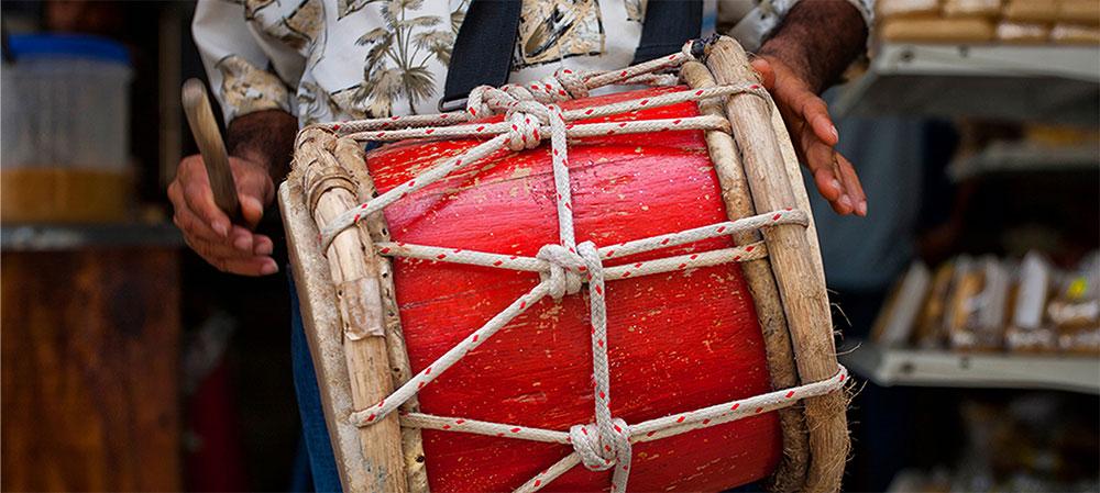Instrumentos de percusión La tambora